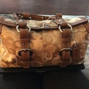 Coach Signature Optic Signature Satchel #10995